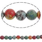 Bruz Beads, Bruz Mozaiku, Round, sintetik, asnjë, ngjyra të përziera, 12mm, : 1mm, : 14.3Inç, 33PC/Fije floku,  14.3Inç,