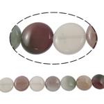 Beads kuarc bizhuteri, Rainbow kuarc, Round Flat, natyror, asnjë, 14x6mm, : 1mm, :15Inç, 5Fillesat/Shumë,  Shumë