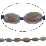 Beads labradorite, Oval, natyror, faceted, 10x14mm, : 1.5mm, :16Inç, 5Fillesat/Shumë,  Shumë