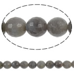 Beads labradorite, Round, natyror, faceted, 12mm, : 1mm, :15.8Inç, 5Fillesat/Shumë,  Shumë