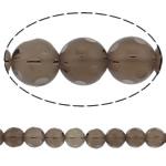 Beads kuarc bizhuteri, Tym kuarc, Round, natyror, punuar me dorë faceted, 14mm, : 1.5mm, :15Inç, 5Fillesat/Shumë,  Shumë