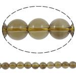 Beads kuarc bizhuteri, Tym kuarc, Round, natyror, asnjë, 10mm, : 2mm, :16Inç, 5Fillesat/Shumë,  Shumë