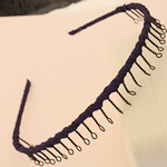 Hair Bands, Hekur, with Saten, Shape Tjera, pikturë, asnjë, safir, , nikel çojë \x26amp; kadmium falas, 13mm, 30PC/Shumë,  Shumë