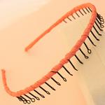 Hair Bands, Hekur, with Saten, Shape Tjera, pikturë, asnjë, portokall, , nikel çojë \x26amp; kadmium falas, 13mm, 30PC/Shumë,  Shumë