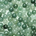 Beads Jadite, Round, natyror, qetë, 5-5.5mm, : 1-2mm, 100PC/Qese,  Qese