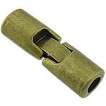Zink Alloy bizhuteri kapje, Alloy zink, Shape Tjera, Ngjyra antike bronz i praruar, asnjë, asnjë, , nikel çojë \x26amp; kadmium falas, 31x10mm, : 5mm, 100PC/Shumë,  Shumë