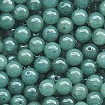 Beads Jadite, Round, natyror, qetë, 7-8mm, : 1-2mm, 20PC/Qese,  Qese
