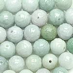 Beads Jadite, Round, natyror, asnjë, 12-13mm, : 1-2mm, 20PC/Qese,  Qese