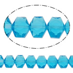 Swarovski Crystal Beads, Shape Tjera, asnjë, faceted, deti blu, 12x10x7.50mm, : 1mm, : 19.6Inç, 50PC/Fije floku,  19.6Inç,