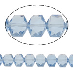 Swarovski Crystal Beads, Shape Tjera, asnjë, faceted, dritë blu, 12x10x7.50mm, : 1mm, : 19.6Inç, 50PC/Fije floku,  19.6Inç,