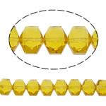 Swarovski Crystal Beads, Shape Tjera, asnjë, faceted, i verdhë, 12x10x7mm, : 1mm, : 19.6Inç, 50PC/Fije floku,  19.6Inç,