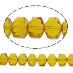 Swarovski Crystal Beads, Shape Tjera, asnjë, faceted, i verdhë, 10x8x6.50mm, : 1mm, : 15.7Inç, 49PC/Fije floku,  15.7Inç,