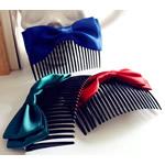 Combs dekorative Flokët, Saten Ribbon, with Akrilik, asnjë, asnjë, ngjyra të përziera, 55x90mm, 55PC/Shumë,  Shumë