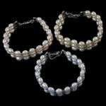 Pearl kulturuar ujërave të ëmbla, with Kristal, Shape Tjera, natyror, ngjyra të përziera, 5-6mm, :6.5Inç,  6.5Inç,