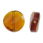 Imitim Swarovski Crystal Beads, Kristal, Kthesë, asnjë, faceted & imitim kristal Swarovski, Topaz tymosur, 14x14x6.50mm, : 1mm, 50PC/Qese,  Qese