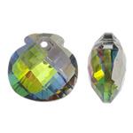 Imitim Swarovski Crystal Pendants, Kristal, Shape Tjera, colorful kromuar, faceted & imitim kristal Swarovski, asnjë, 17x17x9mm, : 1.5mm, 50PC/Qese,  Qese