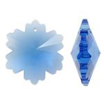 Imitim Swarovski Crystal Pendants, Kristal, Flok dëbore, asnjë, faceted & imitim kristal Swarovski, Akuamarin, 26x30x13mm, : 2mm, 50PC/Qese,  Qese