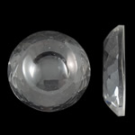Cabochons Crystal, Kristal, Kube, asnjë, mbrapa banesë & faceted, Kristal, 35x7.5mm, 50PC/Qese,  Qese