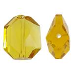 Imitim Swarovski Crystal Beads, Kristal, Tetëkëndësh, asnjë, faceted & imitim kristal Swarovski, Ngjyrë limoni, 15.50x18x8mm, : 1mm, 50PC/Qese,  Qese