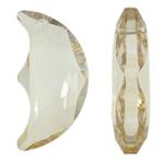 Imitim Swarovski Crystal Pendants, Kristal, Hënë, asnjë, faceted & imitim kristal Swarovski, Lt Colorado topaz, 14x28x7.50mm, : 1.5mm, 50PC/Qese,  Qese