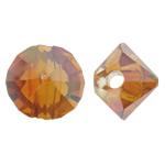 Imitim Swarovski Crystal Beads, Kristal, Nuggets, colorful kromuar, imitim kristal Swarovski, Zjarri Opal, 6x5mm, : 1.5mm, 50PC/Qese,  Qese