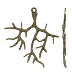 Tunxh, Pemë, Ngjyra antike bronz i praruar, asnjë, asnjë, , nikel çojë \x26amp; kadmium falas, 27x31x1mm, : 1mm, 50PC/Qese,  Qese