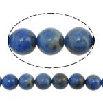Beads lapis lazuli, Natyrore lapis lazuli, Round, asnjë, asnjë, 8mm, : 1mm, :16Inç, 3Fillesat/Shumë, 50 Pcs/Strand,  Shumë