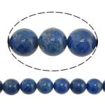 Beads lapis lazuli, Natyrore lapis lazuli, Round, asnjë, asnjë, 10mm, : 1.5mm, :16Inç, 2Fillesat/Shumë, 40 Pcs/Strand,  Shumë