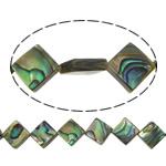 Beads predhë guaskë, Shell Guaskë, Romb, asnjë, asnjë, asnjë, 11x11x4mm, : 1mm, :16Inç, 5Fillesat/Shumë, 38Pcs/Strand,  Shumë