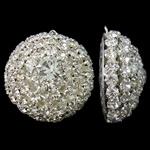 Tunxh, Kube, Ngjyra argjend praruar, me diamant i rremë & i uritur, asnjë, , nikel çojë \x26amp; kadmium falas, 33.50x35.50x17mm, : 1mm, 2PC/Qese,  Qese