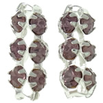 Beads bizhuteri bronzi, Tunxh, Tub, Ngjyra argjend praruar, me diamant i rremë & i uritur, asnjë, , nikel çojë \x26amp; kadmium falas, 6.50x15.50x6.50mm, : 2.5mm, 100PC/Qese,  Qese