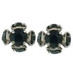 Tunxh, Nuggets, ngjyrë platin praruar, me diamant i rremë, asnjë, , nikel çojë \x26amp; kadmium falas, 7x8x7.50mm, 100PC/Qese,  Qese