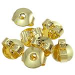 Ear tunxh Nut Komponenti, Shape Tjera, ngjyrë ari praruar, asnjë, asnjë, , nikel çojë \x26amp; kadmium falas, 6x6x3mm, : 1mm, 1000PC/Qese,  Qese