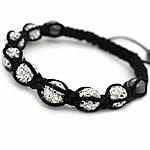 Diamant i rremë Shamballa Bracelets, diamant i rremë Shtrim bead, with Cord najlon & Jo-magnetike kuqe e mbylltë, Shape Tjera, endura, asnjë, asnjë, 10mm, :7-12Inç, 5Fillesat/Shumë,  Shumë