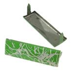 Iron Claw Rivet, Hekur, Drejtkëndësh, pikturë, 2 thua, e gjelbër, , nikel çojë \x26amp; kadmium falas, 35x11mm, 500PC/Qese,  Qese