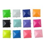 Iron Claw Rivet, Hekur, Katror, pikturë, 4 thua, ngjyra të përziera, , nikel çojë \x26amp; kadmium falas, 9mm, 1000PC/Qese,  Qese