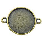 Zink Alloy Connector Setting, Alloy zink, Monedhë, Ngjyra antike bronz i praruar, 1/1 loop, asnjë, , nikel çojë \x26amp; kadmium falas, 39x20x2.50mm, : 3mm, : 18mm, 285PC/KG,  KG