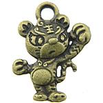 Pendants Zink Alloy Kafshëve, Alloy zink, Tigër, Ngjyra antike bronz i praruar, asnjë, asnjë, , nikel çojë \x26amp; kadmium falas, 13x16x3.50mm, : 2mm, 833PC/KG,  KG