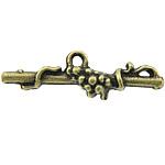 Pendants Zink Alloy, Alloy zink, Shape Tjera, Ngjyra antike bronz i praruar, asnjë, asnjë, , nikel çojë \x26amp; kadmium falas, 24x7x5mm, : 1.5mm, 1250PC/KG,  KG