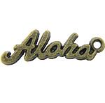 Pendants alfabet Zink Alloy, Alloy zink, Letër, Ngjyra antike bronz i praruar, asnjë, asnjë, , nikel çojë \x26amp; kadmium falas, 17x5x1mm, : 1.5mm, 3333PC/KG,  KG