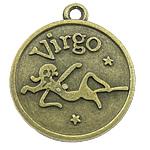 Pendants Zink Alloy, Alloy zink, Virgjëresha, Ngjyra antike bronz i praruar, asnjë, asnjë, , nikel çojë \x26amp; kadmium falas, 18x21x3mm, : 1.5mm, 333PC/KG,  KG