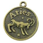 Pendants Zink Alloy, Alloy zink, Dash, Ngjyra antike bronz i praruar, asnjë, asnjë, , nikel çojë \x26amp; kadmium falas, 18x21x3mm, : 1.5mm, 333PC/KG,  KG