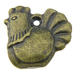 Pendants Zink Alloy Kafshëve, Alloy zink, Pulë, Ngjyra antike bronz i praruar, asnjë, asnjë, , nikel çojë \x26amp; kadmium falas, 13x13x4mm, : 1mm, 666PC/KG,  KG