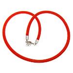 Cord gjerdan Moda, with Tunxh, Shape Tjera, ngjyrë platin praruar, asnjë, i kuq, 5mm, :18Inç, 100Fillesat/Shumë,  Shumë