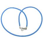 Cord gjerdan Moda, with Tunxh, Shape Tjera, ngjyrë platin praruar, asnjë, blu, 4mm, :18Inç, 100Fillesat/Shumë,  Shumë