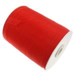 Organza Ribbon, asnjë, asnjë, i kuq, 1cm, :2500Oborr, 5PC/Shumë,  Shumë