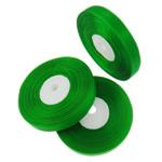 Organza Ribbon, asnjë, asnjë, e gjelbër, 1.3cm, :2500Oborr, 50PC/Shumë,  Shumë