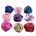 Mëndafsh, Lule, asnjë, asnjë, ngjyra të përziera, 30x30mm, 150PC/Shumë,  Shumë