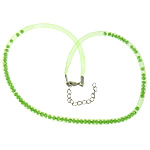 Cord gjerdan Moda, Plastike Cord Net Thread, with Kristal, e gjelbër, 4mm, :20Inç, 30Fillesat/Shumë,  Shumë