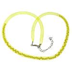 Cord gjerdan Moda, Plastike Cord Net Thread, with Kristal, i verdhë, 4mm, :20Inç, 30Fillesat/Shumë,  Shumë